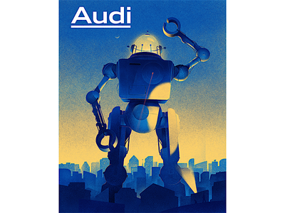 Rise of the machines!  machine texture scifi cars artificial robots drawing illustration magazine audi