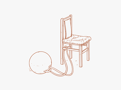 Expanding Your Comfort Zone illustration doodle sketch expanding chair line heavy drawing a letter handwriting
