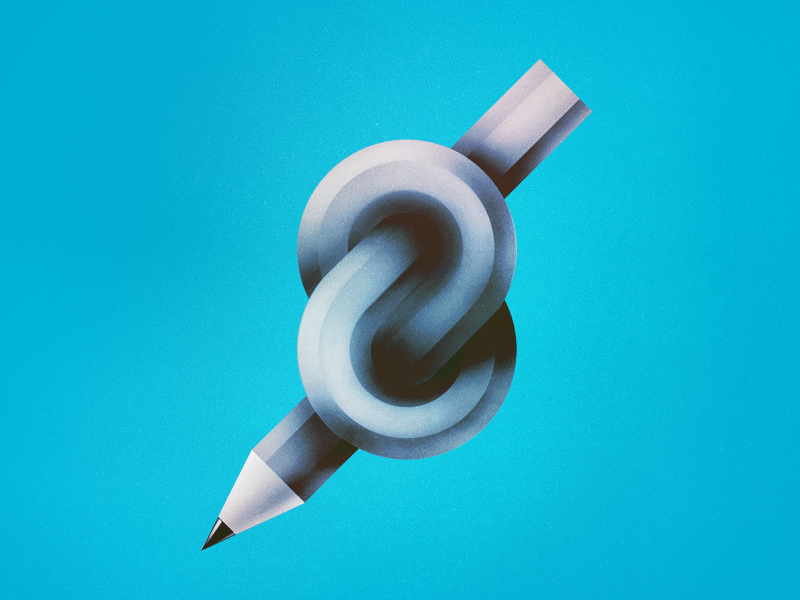 A Knot (free wallpaper) illustration free desktop wallpaper free free wallpaper knot pencil blue texture icon infinity 8