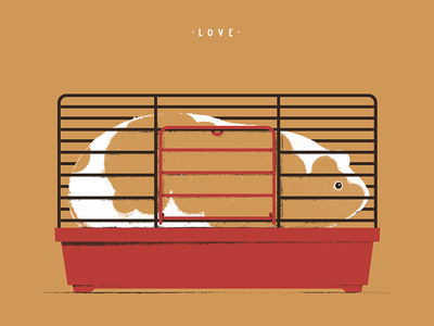 Love Is illustration drawing guinea pig jail cage coop love texture animal