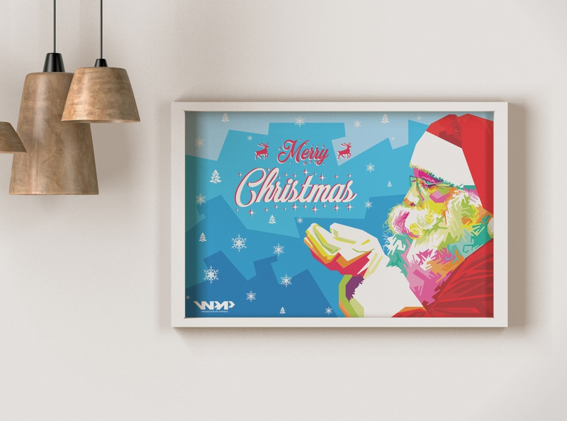 Christmas wpap vector popart flat typography illustrator illustration icon design artwork art