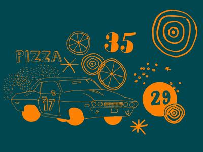 Rally Pizza Branding pizza branding illustration