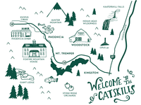 Illustrated Map of the Catskills