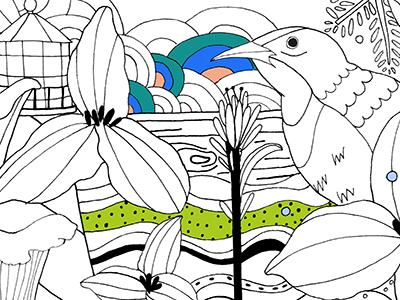 Coloring Book sneak peak coloring book nature line art illustration