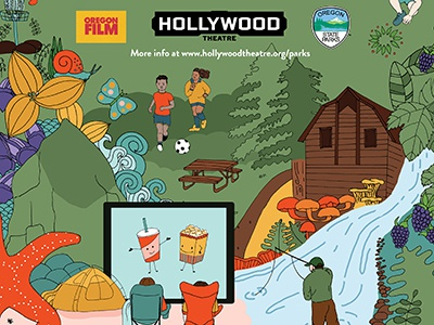 Hollywood Theater, Oregon State Parks parks graphic design poster movies campaign illustration