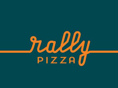 Logo Design, Rally Pizza design logo