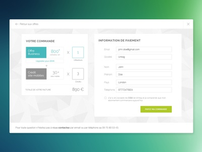 Invoice flat dashboard clean price shop payment invoice