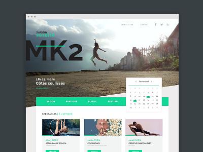 2015/2016 - Cultural season at MK2 webdesign clean flat ui season cultural calendar agenda show