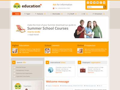 Education - Responsive Joomla Template joomla bonusthemes education school responsive