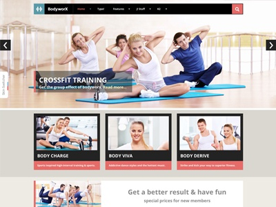 Bodyworx - Responsive Joomla Template bonusthemes joomla responsive gym joomla template fitness athletic