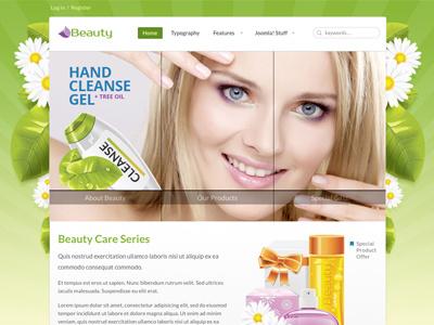 Beauty - Joomla Template beauty bonusthemes joomla template joomla templates cosmetics