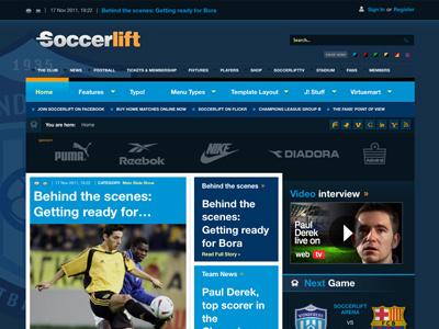 Soccerlift - Joomla Template eshop sports club team bonusthemes joomla template virtuemart joomla templates