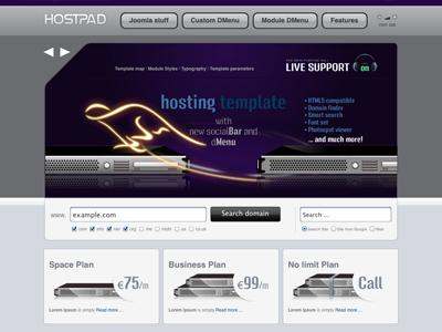 Hostpad - Joomla Template hosting host bonusthemes joomla template joomla templates