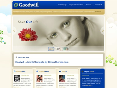 Goodwill - Joomla Template religious solidarity bonusthemes joomla template joomla templates