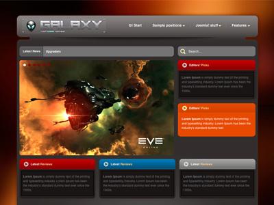 Galaxy - Joomla template game bonusthemes joomla template joomla templates