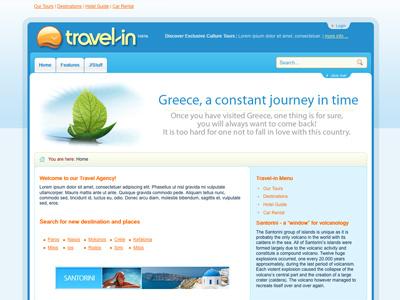 Travelin - Joomla Template travel holidays trip bonusthemes joomla template joomla templates