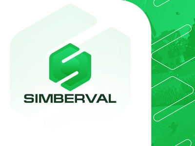 SIMBERVAL - Minecraft project logo simberval simberval concept moonstudio logotype logo branding