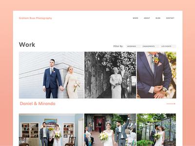 Wedding Website - Work Page photography website work wedding web