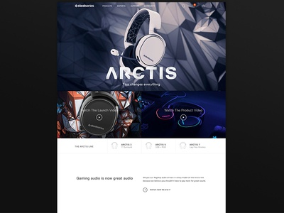 Arctis - Launch Page arctis headsets web design steelseries esports games arctis website gaming