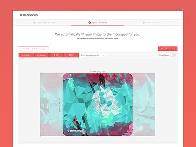Custom Mousepad Maker UI steelseries mousepad ui gaming web app web