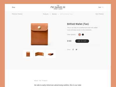 Shop website web ux ui store shop product view leather fashion experience ecommerce