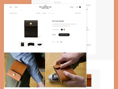 Ecommerce Shop website web ux ui store shop view product leather fashion experience ecommerce