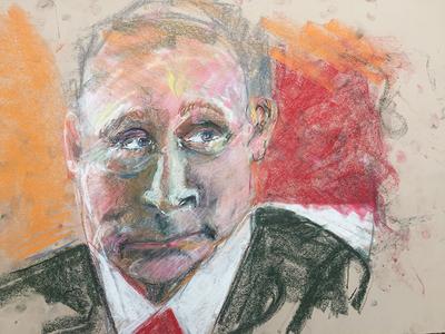 Putin 12 putin portrait pastel