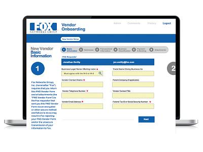FOX VPS uiux interface b2b