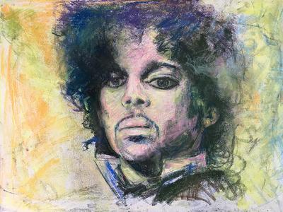 Prince Grape 3 prince portrait pastel