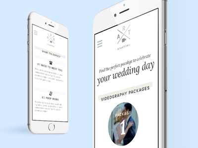 Videographer Portfolio minimal rwd ui wedding clean white mobile website simple options packages videographer