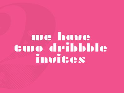dribbble invites flamingo flat design 2 two invitations pink new recruits invites dribbble invites
