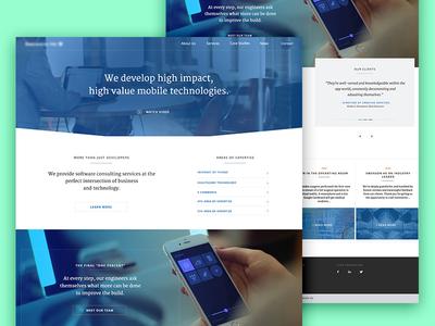 Mobile DevelopmentAgency Website serif engineering developer homepage business corporate website agency