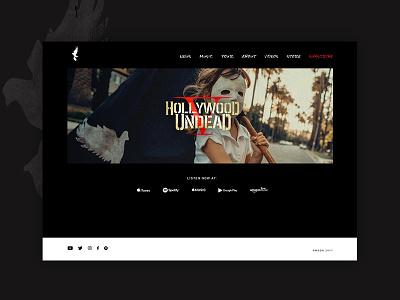 Hollywood Undead Website black rap rock ui ux band band website web design website