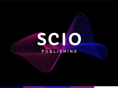 SCIO Publishing Selected Logo wave gradient line branding visual identity medical scan abstract logomark logo