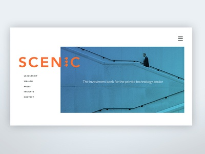 Scenic Website Redesign - alt option #1 gif professional bank investment web design redesign refresh website