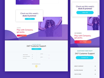 Responsive Design visual design fun home page website ui clean mobile abstract purple responsive
