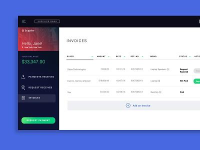 Banking Dashboard product design user interface ui design ui sandbox dash funds money banking dashboard