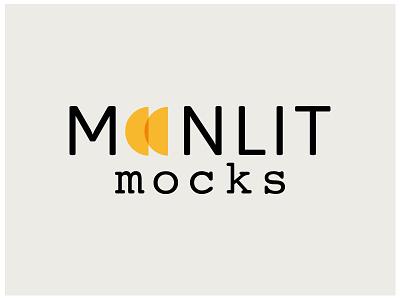 Moonlit Mocks neutral mocks moonlit moon branding logo design logo