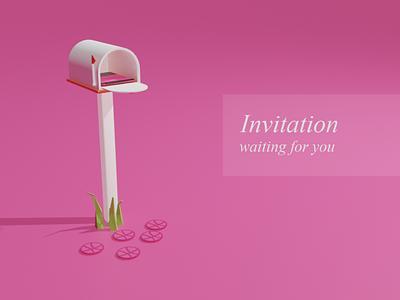 Dribbble Invitation wait for someone... dribbble invite