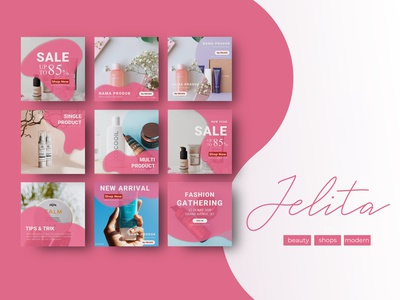 JELITA Template cosmetics beuty product beauty template instagram template instagram post instagram