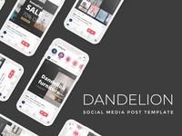 Dandelion Template beauty template instagram template instagram post instagram