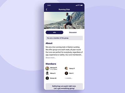 Community-building app paging scroll community social app protopie design animation ux app ui