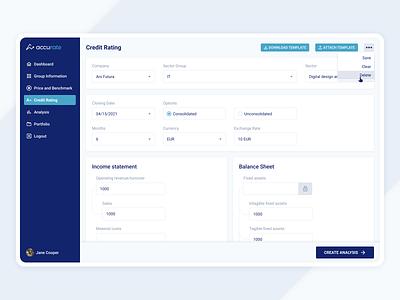 Expert transfer pricing solutions transfer input dashboard design ux ui