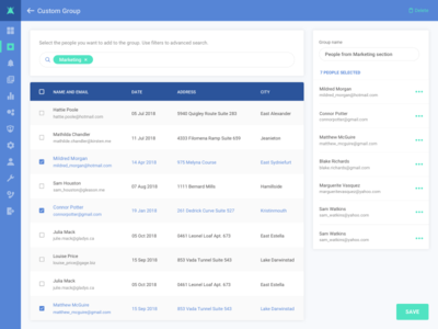 Idea for Admin Interface admin skech list webdesign ui ux dashboard