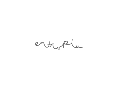 Entropía  handmade type logo