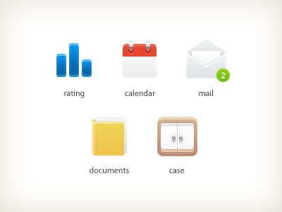 Icons icon icons calendar mail documents case rating