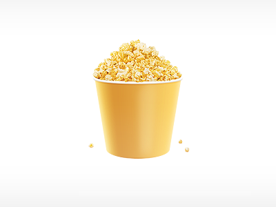 Popcorn 2.0 popcorn yellow corn illustration