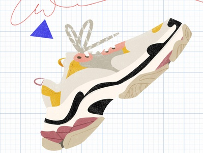 Sneakers fashion styleframe sneakers flat illustration flat editorial illustration editorial illustration