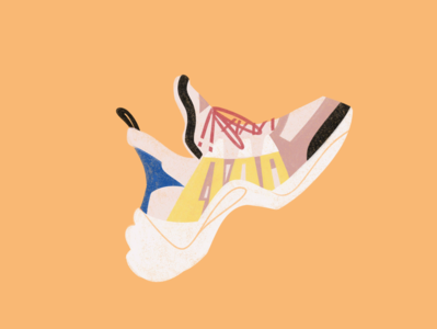 Sneakers 2 graphicdesign sneaker sports sport editorial art editorial flat illustration flat illustraion