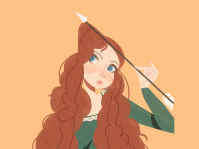 Brave character merida brave disney graphicdesign editorial illustration editorial art editorial flat illustration flat illustration